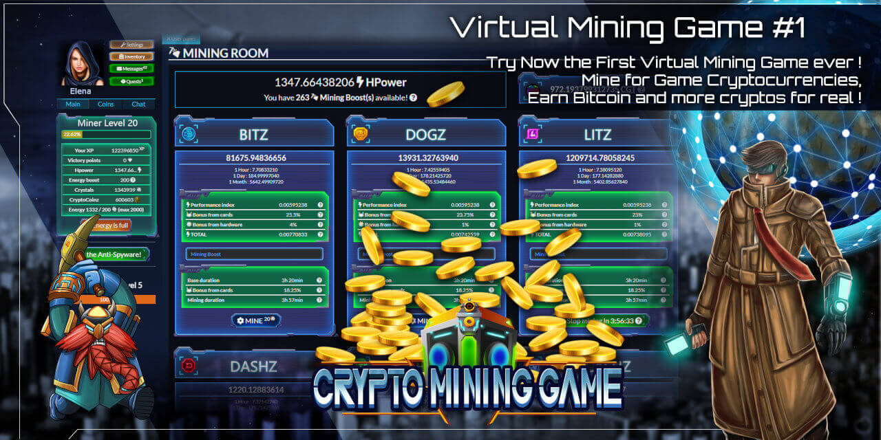 Mine Game currencies for play, earn real cryptocurrencies in cashback